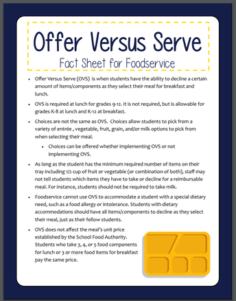 *New* Offer Versus Serve (OVS) Materials