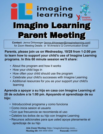 Imagine Learning Parent Meeting [10/28/20]