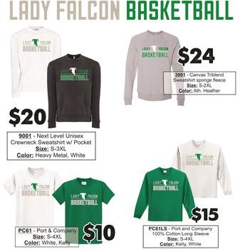 Lady Falcon Basketball ~ Deadline Nov. 15