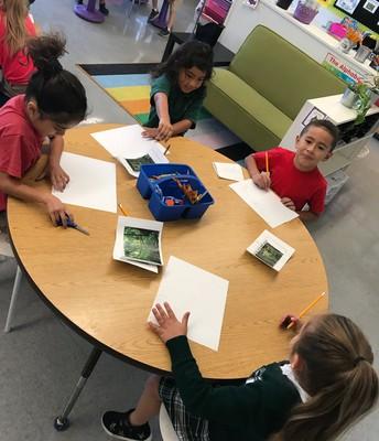 Kindergarteners Creating Animal Habitats!