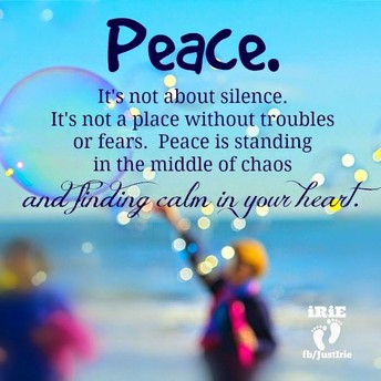 Weekly Theme- Finding Balance, Peace and Building Resiliency