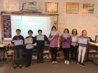 April 2019 Perfect Attendance - 5th grade
