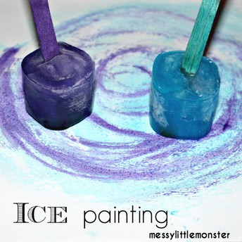 Ice Painting! Get ready for the Arctic!