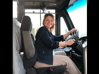 I got to drive a bus!!!!!!!!