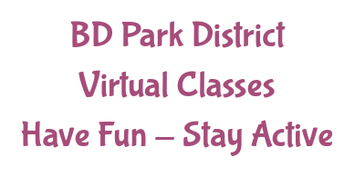Virtual Classes offered by the Bloomingdale Park District