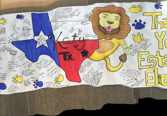 A thank you banner from Katy, TX