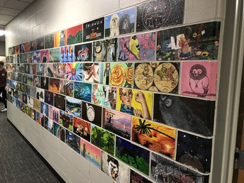 Student Art Work Displayed