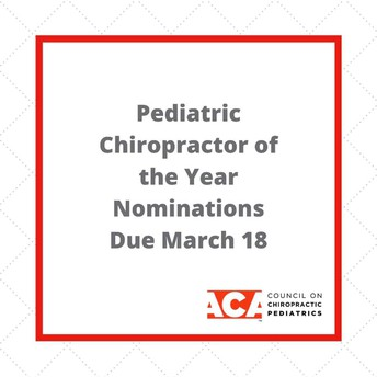The 2020 Pediatric Chiropractor of the Year is...