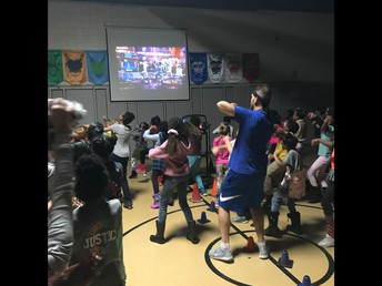 Check out the kids and their dance moves!