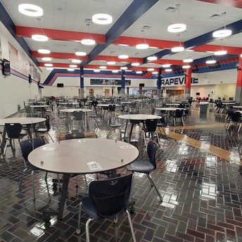 Tables in the SAC are positioned 6ft apart