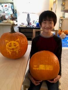 Pumpkin Carving Contest Winner for 6th Grade
