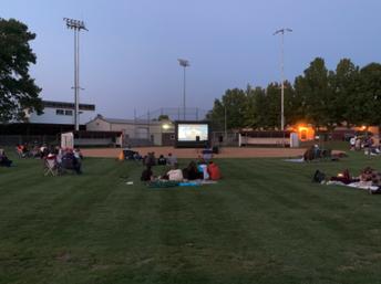 Monday Night Community Movie on the Softball Field