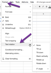 NEW!  In Google Sheets!