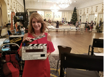 """On the set of """"Christmas at Graceland"""""""