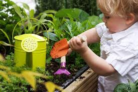 Digging in the dirt provides science and nature as well as working on motor skills