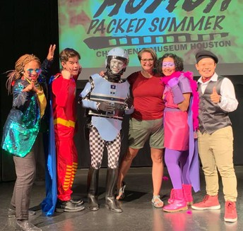 Kerr High School students starred in the live production of Action Packed Summer at Children's Museum of Houston.