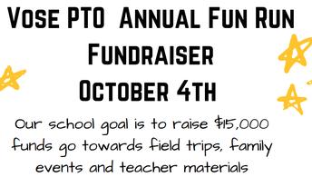 Carrera Divertida ¡Objetivo de $15,000 para toda la escuela!