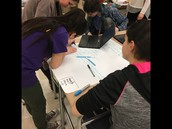 Students collaborate at Strong
