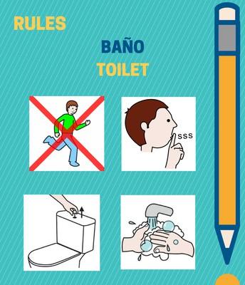 Normas de clase para 3 años (baño)