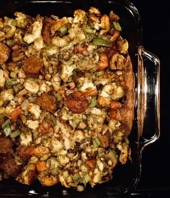 Apple Sage Sausage Stuffing