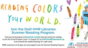DOD MWR Libraries Reading Program with reading colors your world
