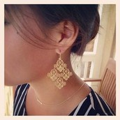 Chantilly Lace Chandelier Earrings - $32