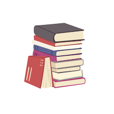 Stack of books graphic