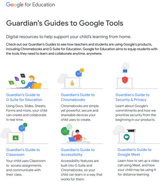 GOOGLE RESOURCES FOR PARENTS AND STUDENTS