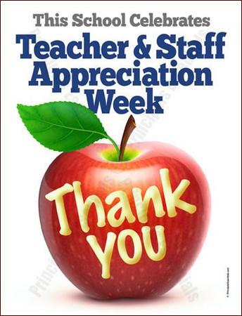 National Teacher & Staff Appreciation week