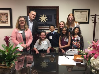 With KP students @ the Capitol