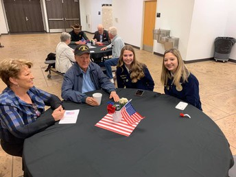 FFA visiting with Veterans