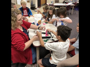 Earned stress balls - making their own