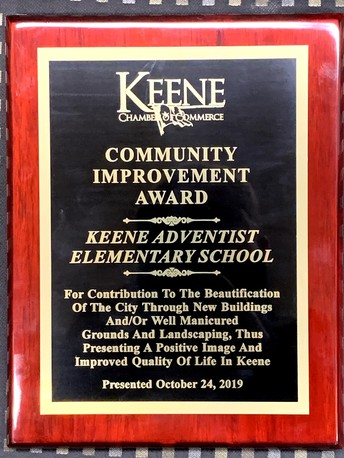 KAES Receives the Keene Chamber Of Commerce Community Improvement Award
