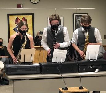 School Board Saxophone Performance
