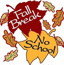 Relax and enjoy the Fall break! No School on Thursday 10/17 and Friday 10/18.