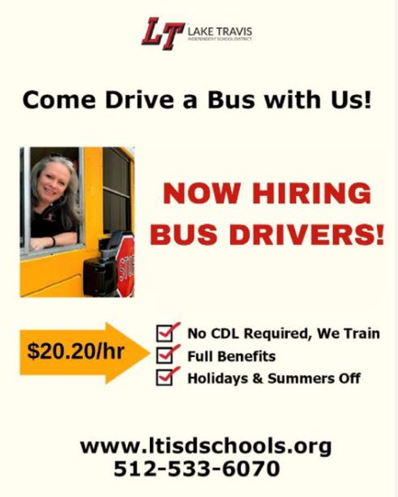 This is an invitation to people to apply for bus driver positions.