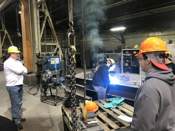WHS visits Drake Williams Steel