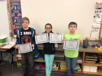 5th grade Perfect Attendance - January
