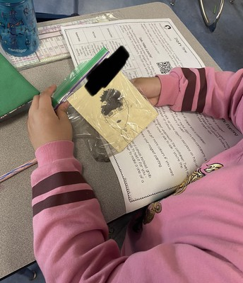 2H is working on learning about magnets. Checking out what materials the magnet force can pass through, seeing how many pages in a book it can go through and finally making some silly portraits using iron filings.