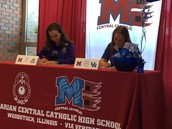 MCCHS Student Athletes Commit to Colleges!