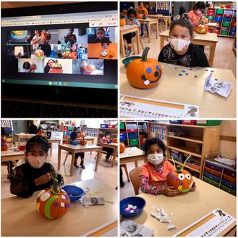 Decorating our Pumpkins!