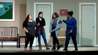 Arts - Caught in the Act - 4 high school female students on stage