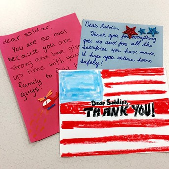 Send a letter to a soldier overseas