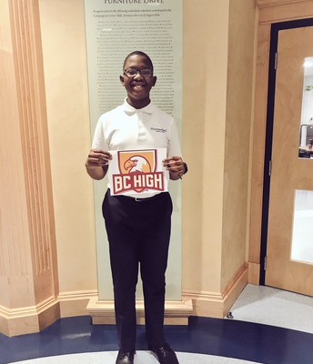 Congrats to our 8th grade scholar, McKinley, on his acceptance to BC High!