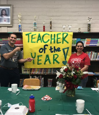 Teacher of the Year -Ms. Gomez (PreK teacher)