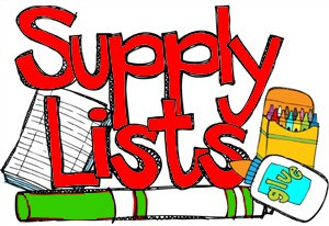 Supply Lists for Each Grade