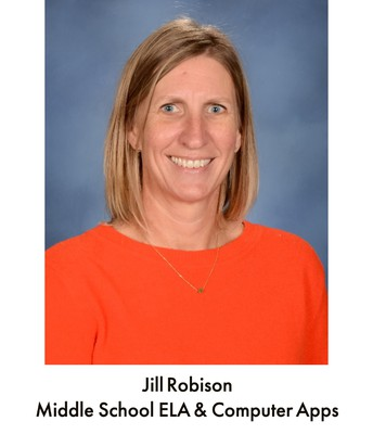 Ms. Robison, ELA and Computer Apps