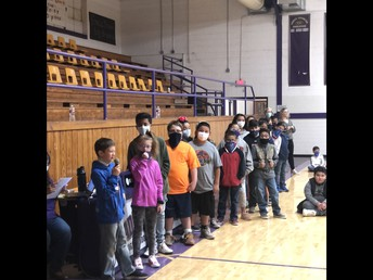 Awards Celebration lead by 5th grade