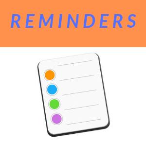 School Reminders