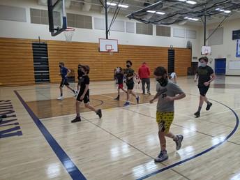 7th Grade Boys Basketball Practice